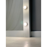 Белое гримерное зеркало 180 на 80 см